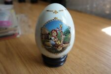 Hummel Danbury Porcelain Egg w/Stand - Apple Tree Girl (1994)