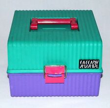 SASSABY Makeup Box Train Cosmetic Case Organizer Box Pageant Travel Vintage