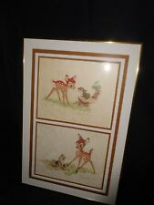 """Disney Original Lithographs Bambi Ste I thru V. Ste IV """""""