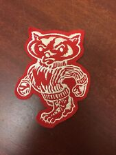 """Vintage Wisconsin Badgers Football Patch Logo College 5 1/2"""" long"""
