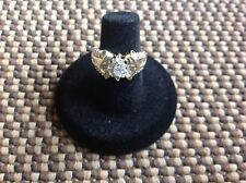 Ladies 14K Yellow Gold ring 1 marquise and 51 other Diamonds sz 5.5