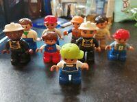 9 LEGO DUPLO FIGURES SET 2 FIREMAN TRAIN DRIVER ZOO KEEPER CONSTRUCTION LOVELY