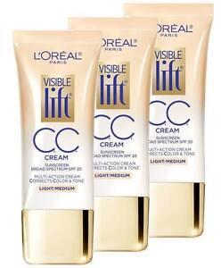 L'OREAL Visible Lift Cc Cream, SPF 20 - Please Choose Color and Quantity