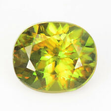 RARE GEMS STONE NATURAL GREEN TO YELLOWISH COLOR CHANGE SPHENE 0.83 CT OVAL CUT