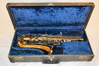 Antique S-33 BUESCHER ARISTOCRAT Saxophone W/Case & Mouthpiece *As is*