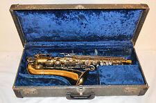 Antique S-33 BUESCHER ARISTOCRAT Saxophone W/Case & Mouthpiece *As is*