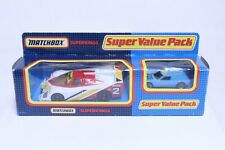 VINTAGE MATCHBOX SUPERKINGS SUPER VALUE PACK SHELL PORSCHE NEW IN BOX