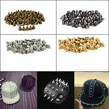 8mm Brass Spike Punk Cone Studs Rivet with Pins for Leather Craft DIY Shoe 50pcs