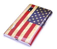 Schutzhülle f LG Optimus L5 E610 Tasche Case Cover USA Amerika Flagge retro