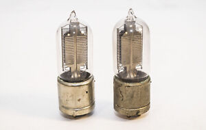 Nice Pair Of Western Electric VT-1 Vacuum Tubes With Good Emission