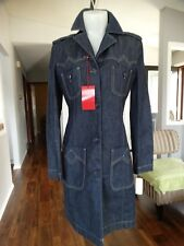 NWT MISS SIXTY ITALY LONG DENIM TRENCH LARGE