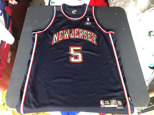 NBA Jason Kidd # 5 New Jersey Nets Authentics Reebok Jersey SZ 2XL +2