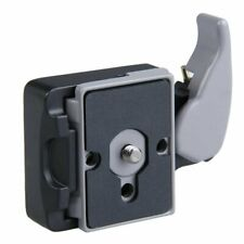 Quick Release Clamp Adapter + QR Plate for Manfrotto Camera Tripod Monopod