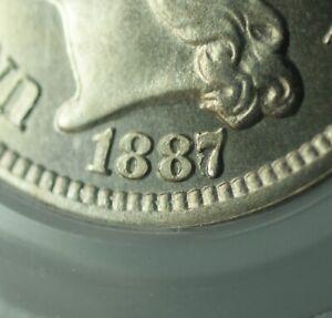 1887/6 Overdate Proof Three Cent Nickel 3c PCGS PR-66 CAM *CAC*
