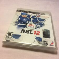 NHL 12 (Sony PlayStation 3, 2011) 2012 PS3 Complete W/ Manual Free Shipping