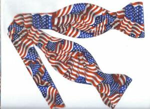 American Flag Bow tie / USA Flags / Patriotic / 4th of July / Self-tie Bow tie
