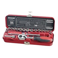 "Sidchrome 21 Piece 1/4"" Drive Socket Set Brand New / Factory Sealed Tool Set"