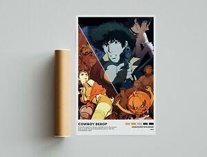 Cowboy Bebop Poster -Shinichirō Watanabe -Minimalist Anime Poster -Vintage Retro