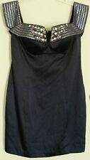 SEDUCE Gladiator DRESS  Little Black Dress with bling  NEW! RP$219 ~ Women sz 12