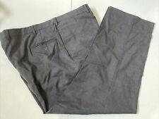 Perry Ellis Men's Big and Tall Black Solid Dress Pants 44X28 $98