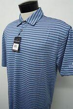 NEW! OXFORD GOLF RIVER CREST blue dry polo shirt sz L mens S/S#8500 c108