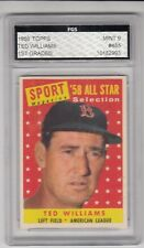 1958 Topps # 485 Ted Williams All Star  FGS MINT 9 no qualifiers