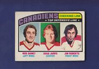 Checking Line Montreal Canadiens 1976-77 O-PEE-CHEE Hockey #217 (EX)