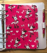 Filofax A5 Organiser Planner - Stunning Minnie Mouse Dividers - Laminated