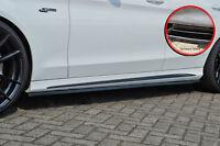 CUP-S Seitenschweller Schweller ABS Mercedes C-Klasse W205 43AMG schwarz glanz