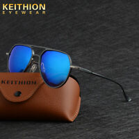KEITHION Aluminium Unisex Polarized Sunglasses Oval Driving Anti-Glare Glasses