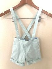 Marie Chantal M&S Girls sz 4 5 Shorts Removable Suspenders Straps Green EUR110
