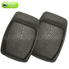 Floor 4WD Mud Mats Heavy Duty Dished Black Rubber Front Pair Can Be Trimmed