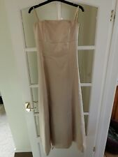 lovely satin Prom dress, size 8, from Debenhams. Champagne in colour.