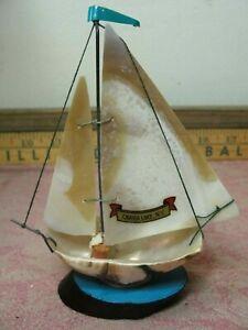 Vintage Shell Sailboat Souvenir Caroga Lake NY Gateway to the Adirondacks