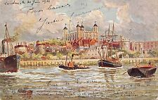 BR62817 the tower of london ship   postcard paiting uk