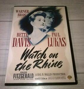 Watch On The Rhine (1943) Bette Davis Paul Likas Slimcase Genuine R2 DVD VGC