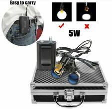 Dental 35x Binocular Loupes With 5w Led Head Light Filter Amp Belt Clip Box Black