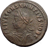 CONSTANTIUS II Constantine the Great son Ancient Roman Coin Camp Gate i30920