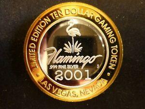 "FLAMINGO CASINO LAS VEGAS NEVADA $10 ""BUILDING"" .999 SILVER STRIKE GAMING TOKEN"