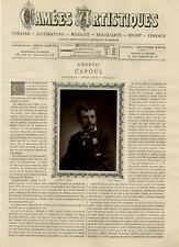 Goupil, France, Camées Artistiques, Capoul vintage print Photoglyptie  9x13c