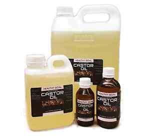 CASTOR OIL Certified Organic 100% Pure Cold Pressed Hexane Free Premium Grade