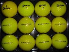 "12 Srixon ""Trispeed Tour"" golf balls-used-yellow"