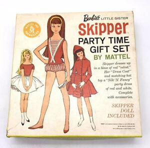 Vg Skipper Party Time Gift Set Original BOX VIntage Barbie Doll Sister Brunette