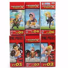 "2"" One Piece WCF World Collectable Figure Fight!! 6pcs Set PVC Figure New In Box"