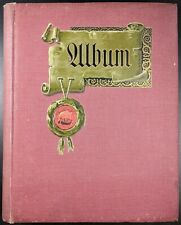 Empty Vintage Postcard Album, c 1910's, By C Pearson & Sons, Space For 200 Cards