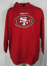 San Francisco 49ers Fleece Embroidered Red Pullover Hoodie NFL 6X