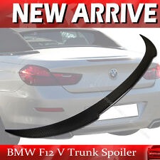 Carbon Fiber For BMW F12 640i 650i M6 V-Type Convertible Rear Trunk Spoiler Wing
