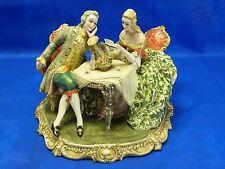 Extreme Rare Vintage Huge Capodimonte Italy Porcelain Figurine
