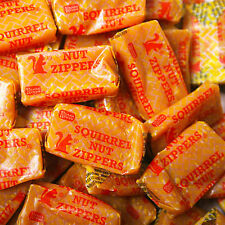 Squirrel Nut Zippers 3 POUND Classic Peanut & Caramel Bulk Candy FREE SHIPPING