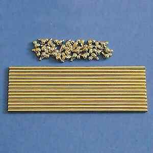 1/12  DOLLS HOUSE  14 BRASS STAIR RODS AND HOLDERS